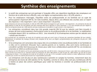 Synth�se des enseignements