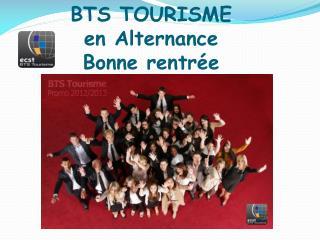 BTS TOURISME  en  Alternance Bonne rentrée
