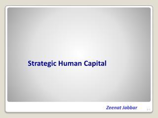Strategic Human Capital