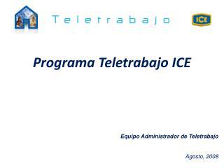 Programa Teletrabajo ICE