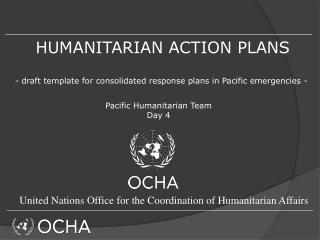 HUMANITARIAN ACTION PLANS