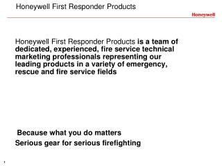 Honeywell First Responder Products