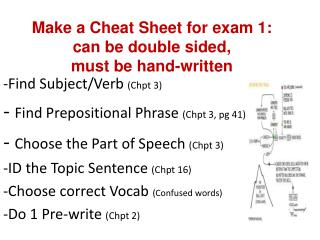 Find Subject/Verb  ( Chpt  3) -  Find Prepositional Phrase  ( Chpt  3, pg 41)