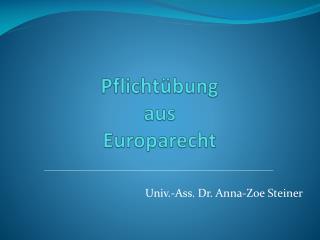 Pflichtübung aus Europarecht