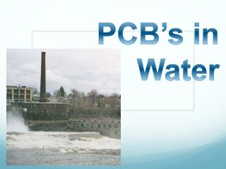 PCB's in Water