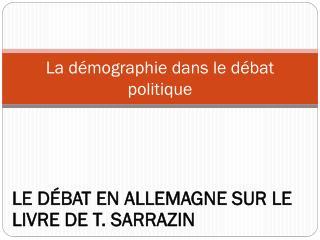 La démographie dans le débat politique