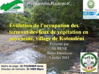 Présenté par  Ali BENE  Bobo-Dioulasso 5 juillet 2011