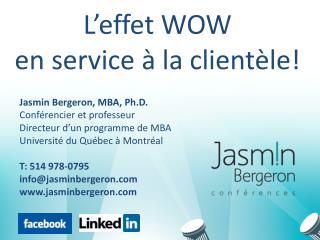 Jasmin Bergeron, MBA,  Ph.D . Conférencier et professeur Directeur d'un programme de MBA