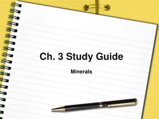 Ch. 3 Study Guide