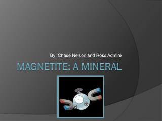 Magnetite: A Mineral