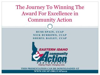 The Journey To Winning The Award For Excellence in Community Action