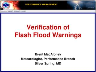 Verification of  Flash Flood Warnings