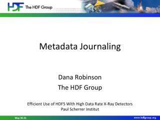 Metadata Journaling