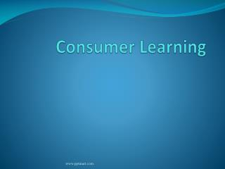 Consumer Learning