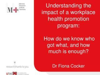 Dr Fiona Cocker