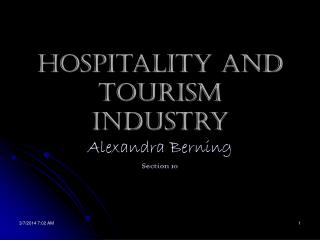 92710 1 Hospitality and Tourism Industry