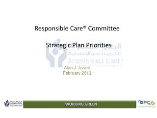 Responsible Care® Committee   Strategic Plan Priorities