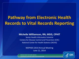 Pathway from Electronic Health Records to Vital Records Reporting