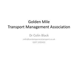 Golden Mile Transport Management Association