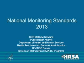 National Monitoring Standards 2013