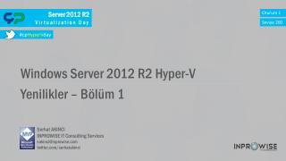 Server 2012 R2  Virtualization Day