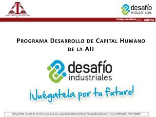 Programa  Desarrollo de Capital Humano de la AII
