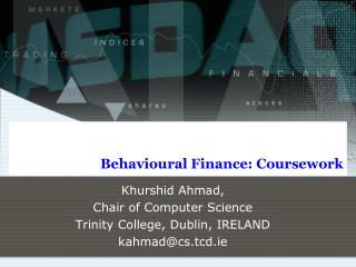 Behavioural Finance: Coursework