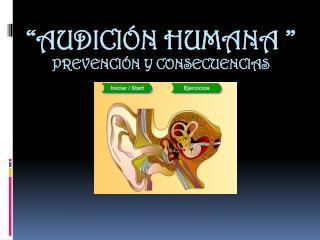 """""""Audición Humana """" prevención y consecuencias"""