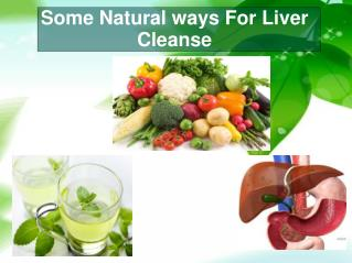 Some Natural ways For Liver Cleanse