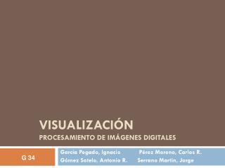 VISUALIZACIÓN  PROCESAMIENTO DE IMÁGENES DIGITALES