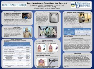 Tracheostomy Care Overlay System J. Biggs, D. Bond, N.  Campagnola , E. Doll, N.  Hott