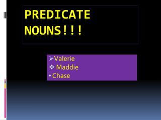 Predicate Nouns!!!