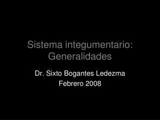 Sistema integumentario: Generalidades