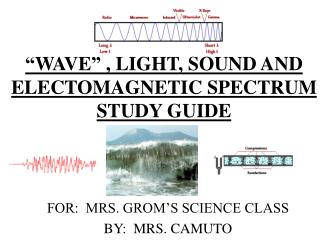 WAVE  , LIGHT, SOUND AND ELECTOMAGNETIC SPECTRUM STUDY GUIDE