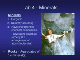 Lab 4 - Minerals