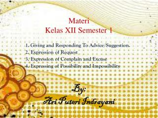 Materi Kelas XII Semester 1