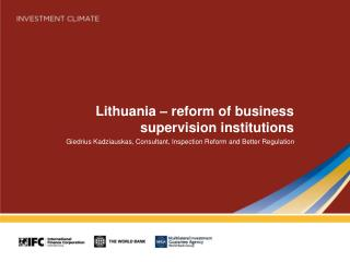 Lithuania – reform of business supervision institutions