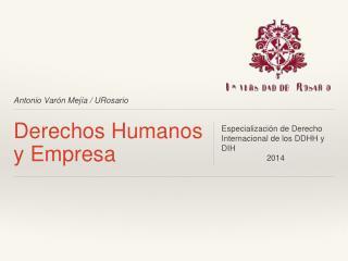 Derechos Humanos y Empresa