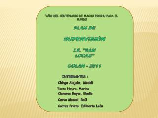 PLAN DE  SUPERVISIÓN I.E.
