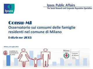 Consu -MI Osservatorio  sui  consumi delle famiglie residenti nel comune  di Milano