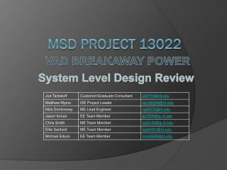 MSD Project 13022