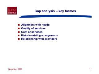 Gap analysis   key factors