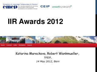 Katarina Mareckova, Robert  Wankmueller,  TFEIP,  14 May 2012, Bern