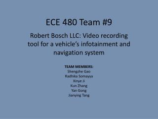 ECE 480 Team #9