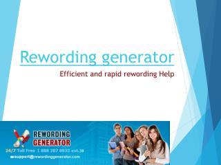 Rewording Generator