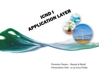 ICND I   APPLICATION LAYER