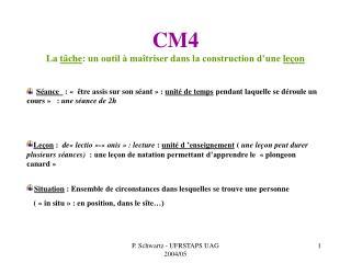 CM4   La t che: un outil   ma triser dans la construction d une le on