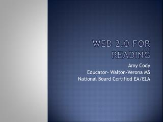 Web 2.0 for Reading