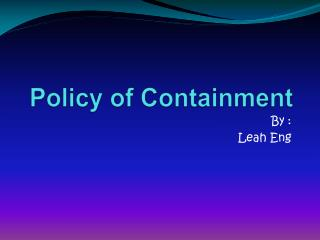 Policy of Containment