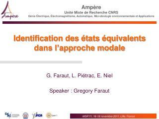 Identification des états équivalents dans l'approche modale